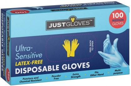 Just Gloves Ultra-Sensitive Medium 100Pk
