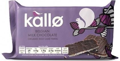 Kallo Rice Cakes Mini Belgium Chocolate Organic  40g