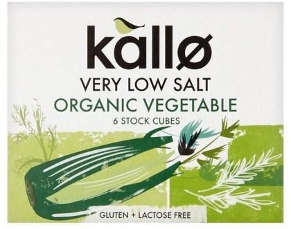 Kallo Stock Cubes Low Salt Vegetable Organic  66g