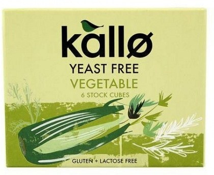 Kallo Stock Cubes Yeast Free Vegetable  66g