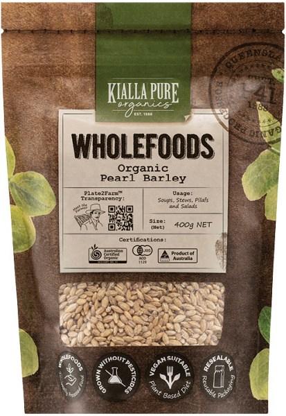 Kialla Pure Organics Organic Pearl Barley 400g