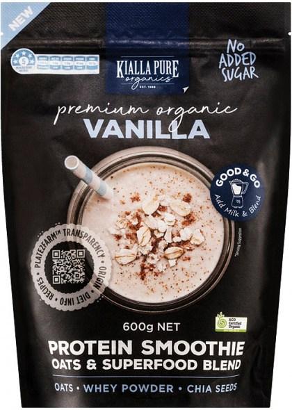 Kialla Pure Organics Organic Protein Smoothie Vanilla 600g