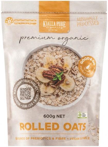 Kialla Pure Organics Organic Rolled Oats 600g