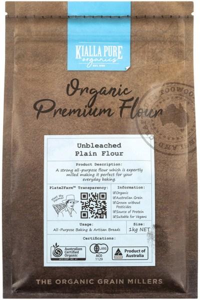 Kialla Pure Organics Organic Unbleached Plain Flour 1Kg