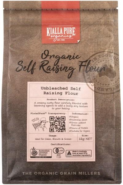 Kialla Pure Organics Organic Unbleached Self Raising Flour 1Kg