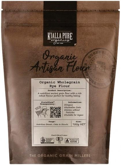 Kialla Pure Organics Organic Wholegrain Rye Flour 700g