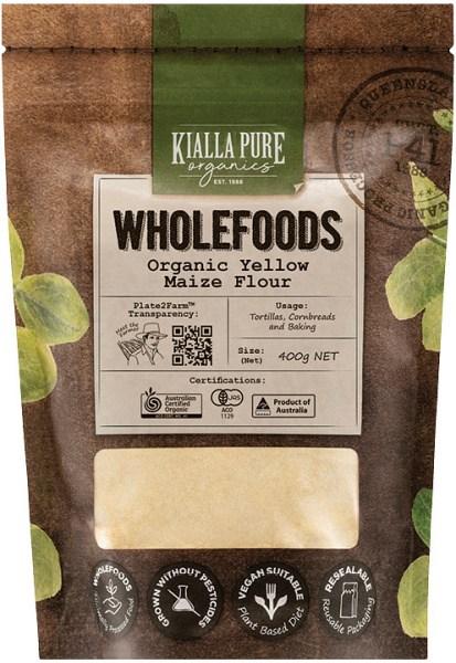 Kialla Pure Organics Organic Yellow Maize Flour  400g