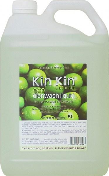 Kin Kin Naturals Eco Dishwash Liquid Lime & Eucalypt 5L