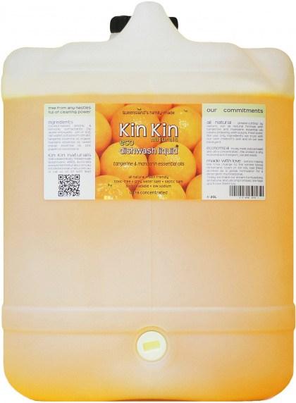 Kin Kin Naturals Eco Dishwash Liquid Tangerine & Mandarin 20L