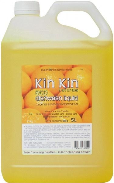 Kin Kin Naturals Eco Dishwash Liquid Tangerine & Mandarin 5L