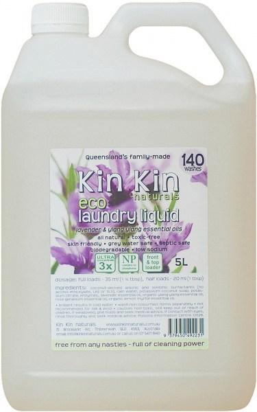 Kin Kin Naturals Eco Laundry Liquid Lavender & Ylang Ylang 5L