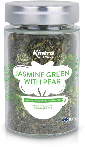 Kintra Foods Loose Leaf Jasmin Green & Pear 100g