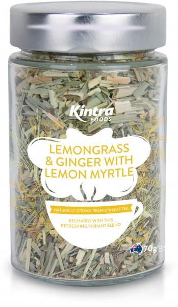 Kintra Foods Loose Leaf Lemongrass, Ginger & Lemon Myrtle 70g