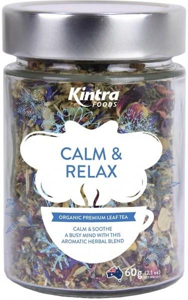 Kintra Foods Organic Calm & Relax Leaf Tea 60g Jar