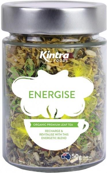 Kintra Foods Organic Energise Leaf Tea 50g Jar