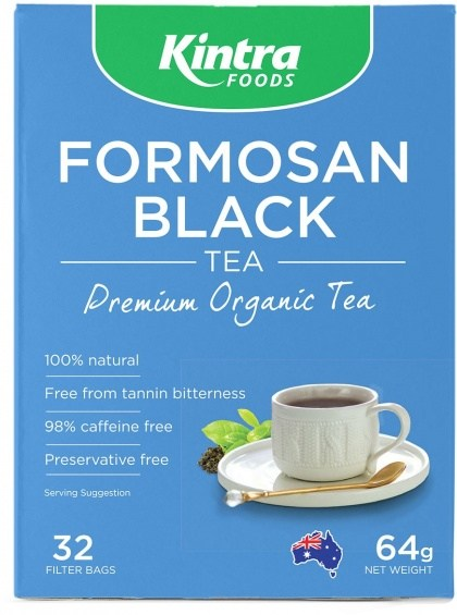 Kintra Foods Organic Formosan Black Tea 32Teabags