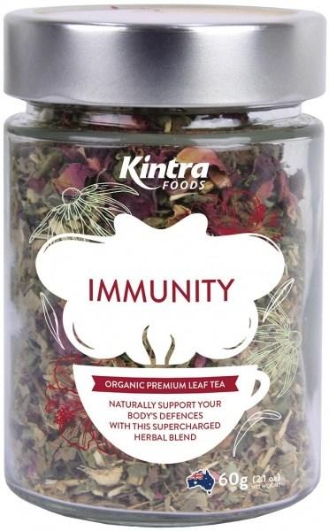 Kintra Foods Organic Immunity Leaf Tea 60g Jar