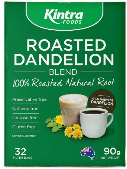 Kintra Foods Roasted Dandelion  32 Filter Bags 90g