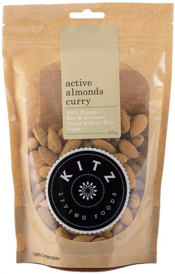 Kitz Living Foods Organic Active Almonds Curry  150g