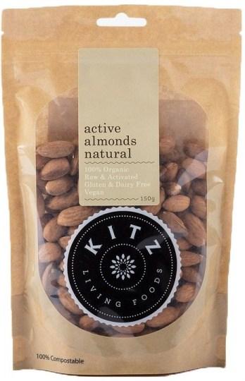 Kitz Living Foods Organic Active Almonds Natural  150g