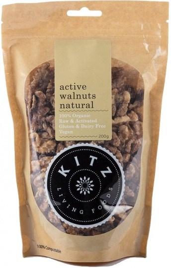 Kitz Living Foods Organic Active Walnuts Natural  200g