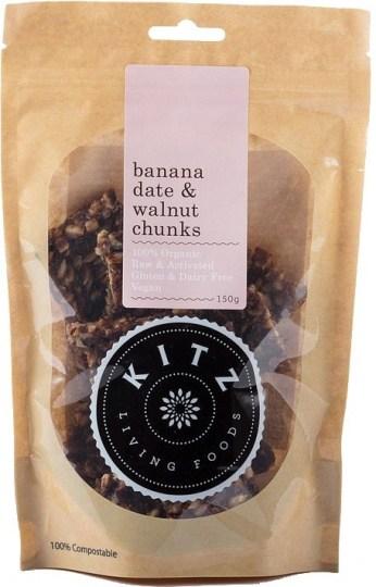 Kitz Living Foods Organic Banana Date & Walnut Chunks  150g