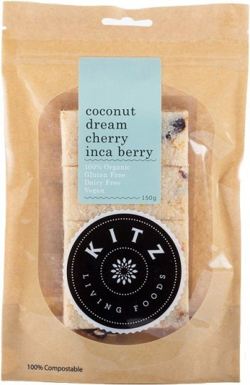 Kitz Living Foods Organic Coconut Dream Cherry Inca Berry  150g