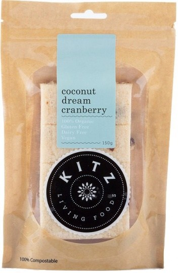 Kitz Living Foods Organic Coconut Dream Cranberry  150g