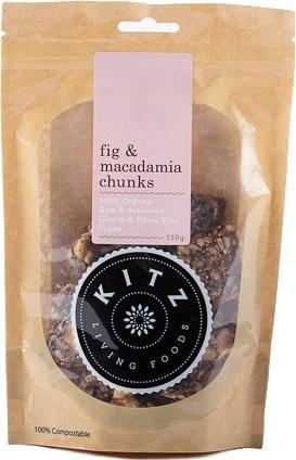 Kitz Living Foods Organic Fig & Macadamia Chunk  150g