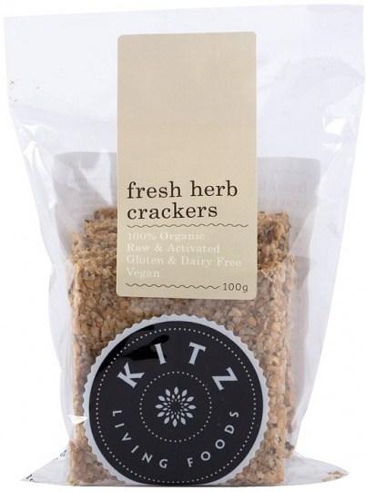 Kitz Living Foods Organic Fresh Herb Crackers  100g