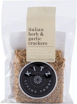 Kitz Living Foods Organic Italian Herb Crackers  100g