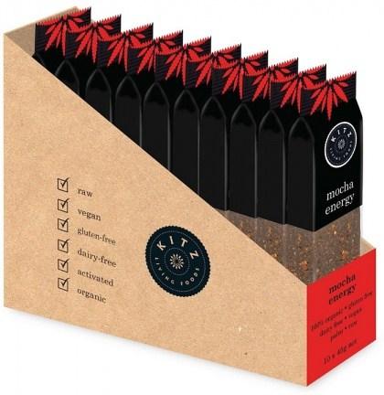 Kitz Living Foods Organic Mocha Energy Bars  10x45g