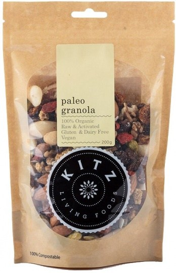 Kitz Living Foods Organic Paleo Granola  200g