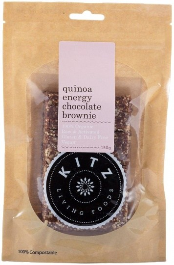 Kitz Living Foods Organic Quinoa Energy Chocolate Brownie  150g