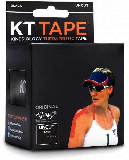 KT Tape Cotton 16 ft Uncut Black