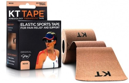 "KT Tape Cotton 20 Precut 10"" Strips Beige"