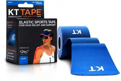 """KT Tape Cotton 20 Precut 10"""" Strips Blue"""