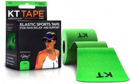 """KT Tape Cotton 20 Precut 10"""" Strips Lime"""