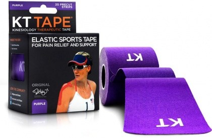 "KT Tape Cotton 20 Precut 10"" Strips Purple"