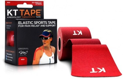 "KT Tape Cotton 20 Precut 10"" Strips Red"
