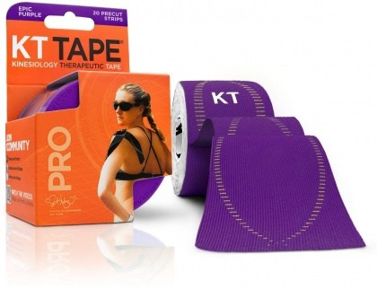 "KT Tape Pro 20 Precut 10"" Strips Epic Purple"