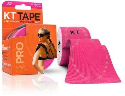 "KT Tape Pro 20 Precut 10"" Strips Hero Pink"