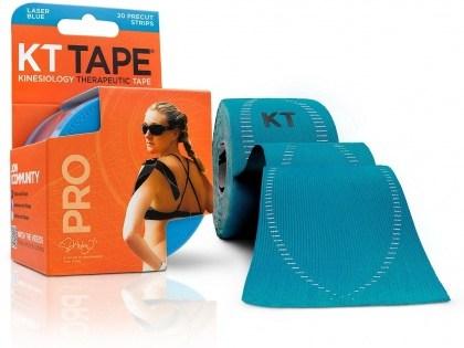 """KT Tape Pro 20 Precut 10"""" Strips Laser Blue"""