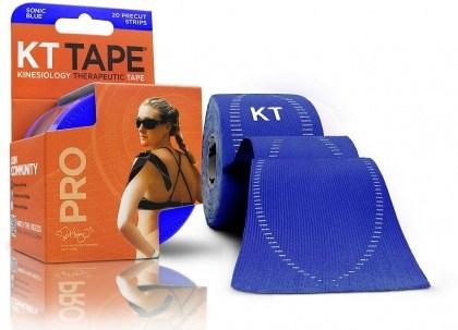 "KT Tape Pro 20 Precut 10"" Strips Sonic Blue"
