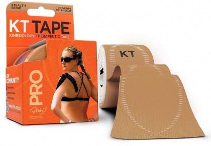 """KT Tape Pro 20 Precut 10"""" Strips Stealth Beige"""