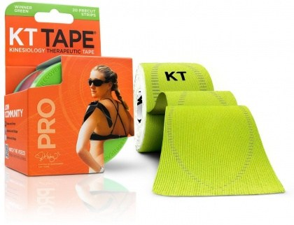 "KT Tape Pro 20 Precut 10"" Strips Winner Green"