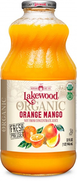 Lakewood Organic Orange Mango Juice  946ml