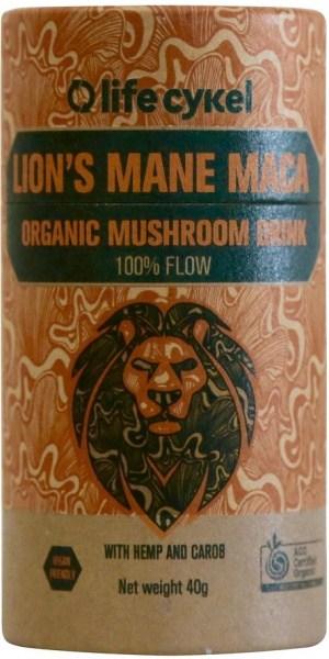 Life Cykel Lion's Mane Maca Organic Mushroom Drink 40g