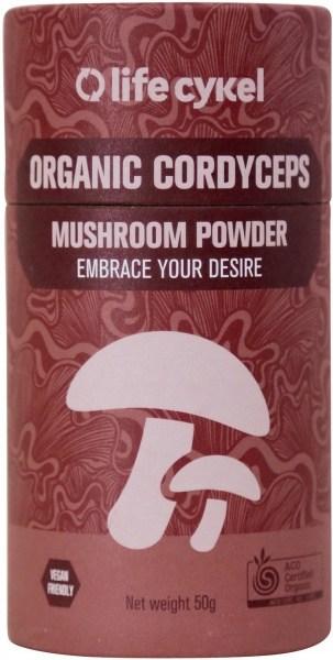 Life Cykel Organic Cordyceps Mushroom Powder 50g