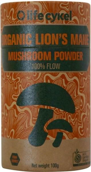 Life Cykel Organic Lion's Mane Mushroom Powder 100g